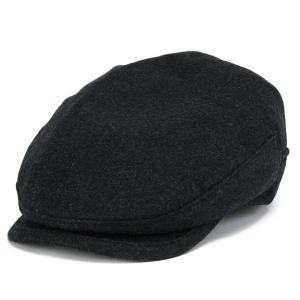 カシミヤ フランネル ハンチング メンズ 帽子 KASZKIET カシュケット インポート チャコールグレー