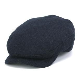 カシミヤ フランネル ハンチング メンズ 帽子 KASZKIET カシュケット インポート 紺 ネイビー