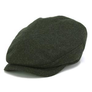 カシミヤ フランネル ハンチング メンズ 帽子 KASZKIET カシュケット インポート オリーブ
