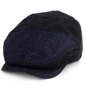 ハンチング カシュケット 帽子 秋冬 切替 2トーン レディース アイビーキャップ メンズ KASZKIET ネイビー 紺