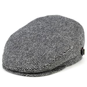 ハンチング 帽子 カシュケット ツイード ヘリンボーン クラシック KASZKIET 秋冬ファッション トラディショナル 黒 ブラック