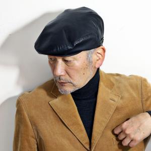 レザー ハンチング シープスキン KASZKIET カシュケット インポートブランド 帽子 メンズ 黒 ブラック