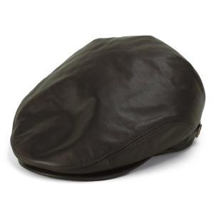 レザー ハンチング シープスキン KASZKIET カシュケット インポートブランド 帽子 メンズ 茶 ブラウン