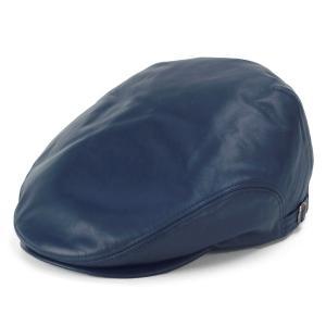 レザー ハンチング シープスキン KASZKIET カシュケット インポートブランド 帽子 メンズ 紺 ネイビー