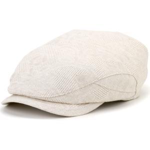KASZKIET ポーランド製 1237/1型 ハンチング メンズ 帽子 リネン 個性的 カシュケット 春夏 大きいサイズ ベージュ|elehelm-hatstore