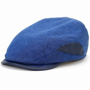切替 ハンチング リネン コットン レザー ポーランド製 KASZKIET メンズ 帽子 1237/1型 大きいサイズ カシュケット 春夏 紺 ネイビー|elehelm-hatstore
