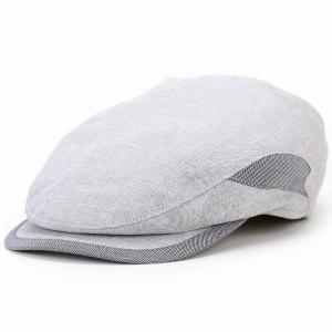 ハンチング メンズ 帽子 morgado ポルトガル製ファブリック コットン カシュケット 春夏 KASZKIET ポーランド製 1237/1型 大きいサイズ ライトグレー|elehelm-hatstore