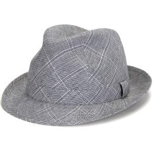 チェック 中折れハット メンズ  リネン 中折れ 帽子 父の日 好適品 春夏 カシュケット インポート ハット 麻 ポーランド製 style 1288 型 チェックグレー|elehelm-hatstore