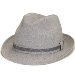 メンズ インポート ハット 麻 綿 中折ハット 父の日好適品 大きい サイズ リネン 中折れ 帽子 コットン 春夏 カシュケット ポーランド製 style 1288 型 グレー|elehelm-hatstore