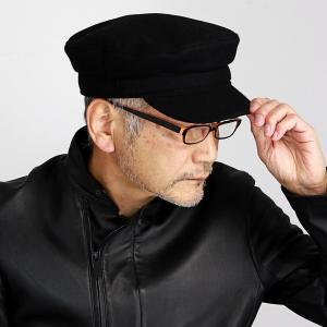 帽子 マリンキャップ 秋冬 メンズ レディース KASZKIET メルトン ウール カシュケット シンプル 無地 ギフト 黒 ブラック|elehelm-hatstore
