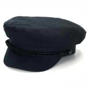 マリンキャップ リネン メンズ レディース 帽子 カシュケット インポート KASZKIET クルーズ キャップ ポーランド製 style 14 型 黒 ブラック|elehelm-hatstore