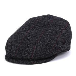 シェットランドウール ツイード へリンボン ハンチング KASZKIET インポート カシュケット 帽子 グレー