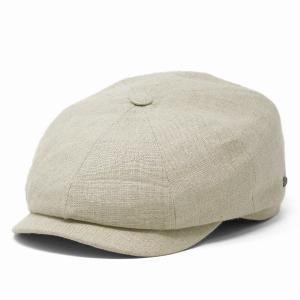 KASZKIET 8方ハンチング 無地 ポーランド製 1660型 リネン カシュケット ハンチング メンズ 帽子 春夏 インポートハット 大きいサイズ ベージュ|elehelm-hatstore