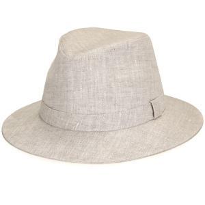 ワイド 中折れ ハット メンズ カシュケット インポート 麻 父の日 つば広 帽子 リネン KASZKIET ポーランド製 style 2170/1 型 ベージュ|elehelm-hatstore