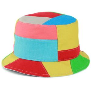 KASZKIET サファリハット メンズ 春夏 個性派 カラフル カシュケット サハリ 帽子 パッチワーク マルチ