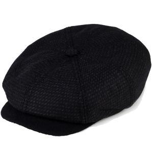 カシュケット ハンチング メンズ 帽子 秋冬 カシュケット インポート バーズアイ 8パネル KASZKIET ブラック