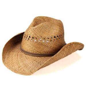 カウボーイ メンズ ハット レディース 帽子 テンガロンハット 春夏 リゾート 天然繊維 中折れ スモーク 茶|elehelm-hatstore