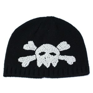 ニット帽 ワッチ キッズ スカル刺繍 サンディエゴハット ドクロの刺繍がかわいい 子供に最適 ブラック|elehelm-hatstore