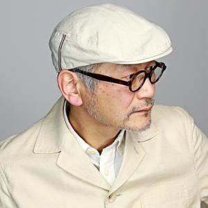 KNOX メンズ 帽子 ハンチング 日本製 綿100% バイオウォッシュ 春夏 ノックス 涼しい 紳士 ハンチング帽 無地 シンプル レディース 白 オフホワイト アイボリー elehelm-hatstore