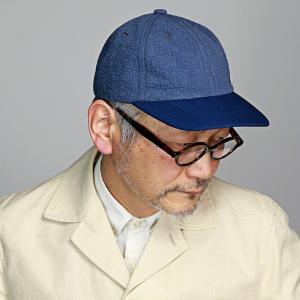 ノックス 涼しい 帽子 春夏 キャップ メンズ 日本製 KNOX サッカー生地 野球帽 紳士 ベースボールキャップ レディース 青 紺 ブルー|elehelm-hatstore
