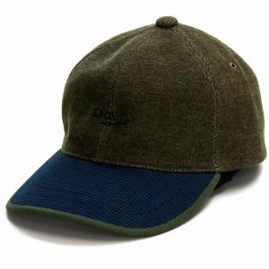 キャップ ノックス サーモトロン 遠赤外線 蓄熱 6方キャップ 日本製 KNOX 秋冬 野球帽 メンズ 帽子 紳士 ベースボールキャップ カーキ elehelm-hatstore