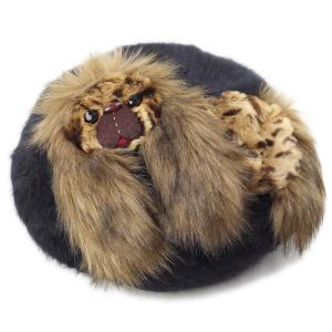 バラ色の帽子 ペキニーズ モヘアベレー レディース ばら色 ベレー帽 帽子 Barairo no boushi クロ ブラック|elehelm-hatstore