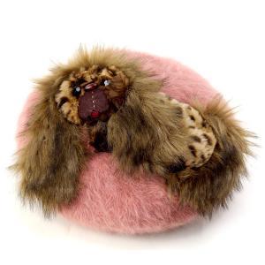 バラ色の帽子 ベレー帽 ペキニーズ モヘアベレー レディース ばら色 帽子 Barairo no boushi ピンク|elehelm-hatstore