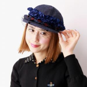 キャップ レディース デニム 送料無料 日本製 チュール付きデニムキャップ フリル 可愛い バラ色の帽子 秋冬 Barairo no Boushi ネイビー 紺 elehelm-hatstore