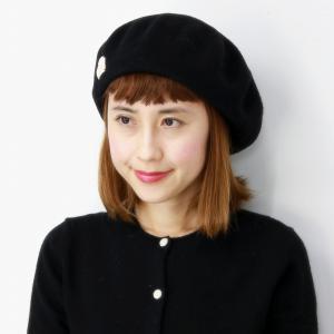 ベレー帽 Barairo no Boushi 日本製 レディース 秋冬 帽子 バラ色の帽子 アジャスター付き プレーンバスクベレー  送料無料 シンプル ベレー クロ|elehelm-hatstore