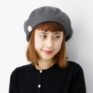 レディース 秋冬 帽子 アジャスター付き Barairo no Boushi プレーンバスクベレー 送料無料 ベレー帽 日本製 バラ色の帽子 シンプル ベレー グレー|elehelm-hatstore