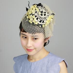 カクテルハット 日本製 バラ色の帽子 すずらんブーケ ヘッドアクセ 春夏 可愛い ヘッドドレス ウェディング Barairo no Boushi アイボリー|elehelm-hatstore