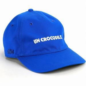 ラコステ 5方キャップ オールシーズン 綿100% CAP 帽子 メンズ LACOSTE レディース キャップ サイズ調整 ツイル ブルー 青|elehelm-hatstore