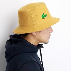 ラコステ 帽子 サハリハット メンズ ブランド lacoste 秋冬 レディース サファリ ハット 無地 ワンポイント 黄色 ベージュ|elehelm-hatstore