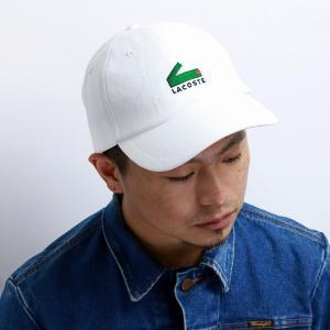 ベースボールキャップ メンズ 秋冬 lacoste キャップ レディース Alligator 帽子 ワニ POP ワンポイント ホワイト 白 elehelm-hatstore