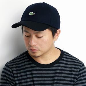 LACOSTE メルトン キャップ 秋冬 ラコステ 17AW 2トーンキャップ メンズ 帽子 レディース サイズ調整 日本製 6方キャップ 上品 紺 ネイビー elehelm-hatstore