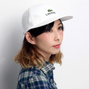 ラコステ キャップ メンズ コットン ツイル LACOSTE 日本製 白 ホワイト|elehelm-hatstore