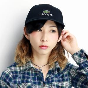 LACOSTE キャップ レディース コットン ツイル ラコステ メンズ 日本製 黒 ブラック|elehelm-hatstore