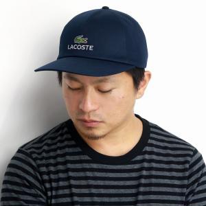 LACOSTE キャップ メンズ コットン ツイル ラコステ レディース 日本製 紺 ネイビー|elehelm-hatstore