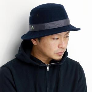 LACOSTE ウール サファリハット 秋冬 帽子 メンズ サハリ ハット ラコステ 日本製 バケットハット レディース ギフト 紺 ネイビー|elehelm-hatstore