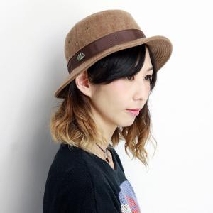 ウール ラコステ 秋冬 サハリハット LACOSTE 帽子 日本製 サファリ ハット メンズ バケットハット レディース ギフト ライトブラウン 中茶|elehelm-hatstore