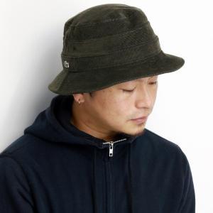 ラコステ 秋冬 帽子 バケットハット コーデュロイ サハリ LACOSTE ハット メンズ 日本製 サファリ ハット レディース カジュアル 深緑 カーキ|elehelm-hatstore