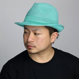 サマーニット ラコステ 鹿の子編み ハット 中折れハット 春夏ファッション メンズ 帽子 ミント エメラルドグリーン elehelm-hatstore