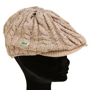 ニットハンチング 丸いシルエット 帽子 メンズ ラコステ 秋冬 ピッタリフィット ベージュ|elehelm-hatstore|02
