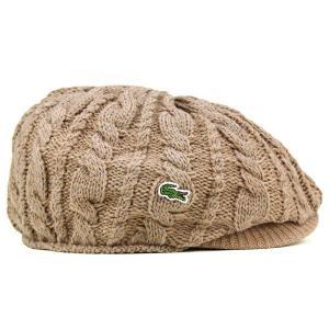 ニットハンチング 丸いシルエット 帽子 メンズ ラコステ 秋冬 ピッタリフィット ベージュ|elehelm-hatstore|03