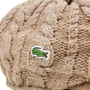 ニットハンチング 丸いシルエット 帽子 メンズ ラコステ 秋冬 ピッタリフィット ベージュ|elehelm-hatstore|05