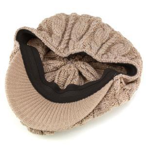 ニットハンチング 丸いシルエット 帽子 メンズ ラコステ 秋冬 ピッタリフィット ベージュ|elehelm-hatstore|06