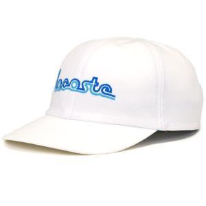 日よけ LACOSTE 綿 紫外線対策 ブロード 6方キャップ 春夏 キャップ ラコステ レディース 帽子 スポーティー サイズ調整付き シンプル/オフホワイト elehelm-hatstore
