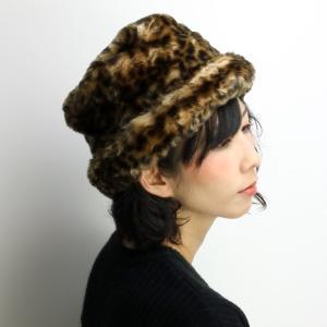 SCALA ロシア帽 帽子 レディース クロッシェ ブランド 秋冬 フェイクファー/ライトレオパード elehelm-hatstore
