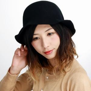 秋冬 ハット マズルカ 日本製 帽子 クロッシェ Mazurek 婦人 ウール レディース ブラック elehelm-hatstore