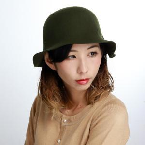 婦人 ハット Mazurek レディース クロッシェ 秋冬 ウール 帽子 日本製 マズルカ オリーブ elehelm-hatstore